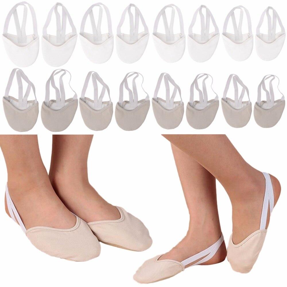 1Pair Rhythmic Gymnastics Shoes Soft Half Socks Ballroom Art Gym Accessories  Elastic Dance Shoes Gymnastics