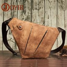 JOYIR Pantofi din piele originale din piele Sling Pungi de piept pentru bărbați Călătorii Un singur sac de umăr Bărbați Messenger Bag Pachetul cu buzunar Telefon Blosas