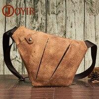 JOYIR Genuine Leather Crossbody Bag Sling Chest Bag For Men Travel Shoulder Bag Men Small Messenger Bag Chest Pack Phone Blosas
