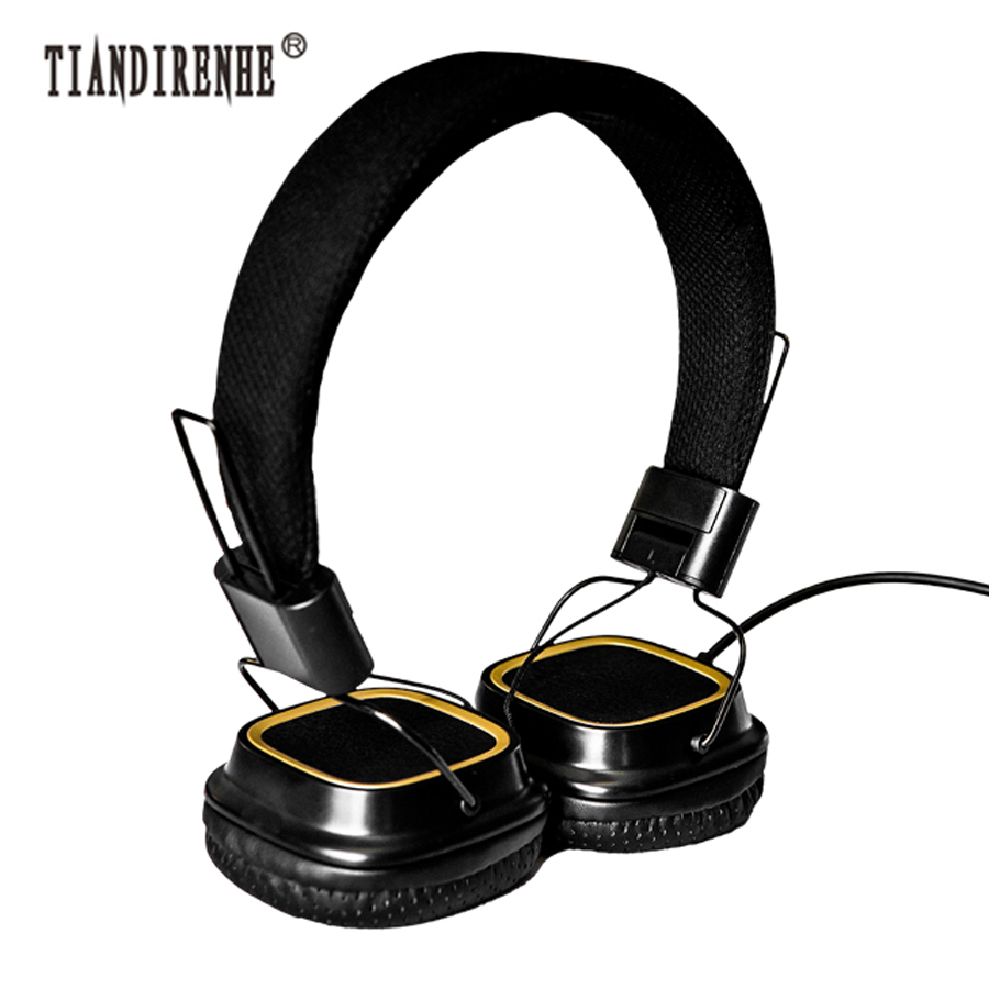 bilder für Tiandirenhe Hohe Qualität Kopfhörer Deep Bass Ear Headset für Studio Stereo Hifi Kopfhörer Monitore fone de ouvido