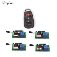 Sleeplion Family Home US 110V 10A 1CH Relay 4-key wireless RF Control Switch Transmitter+4 Receiver Switch Module