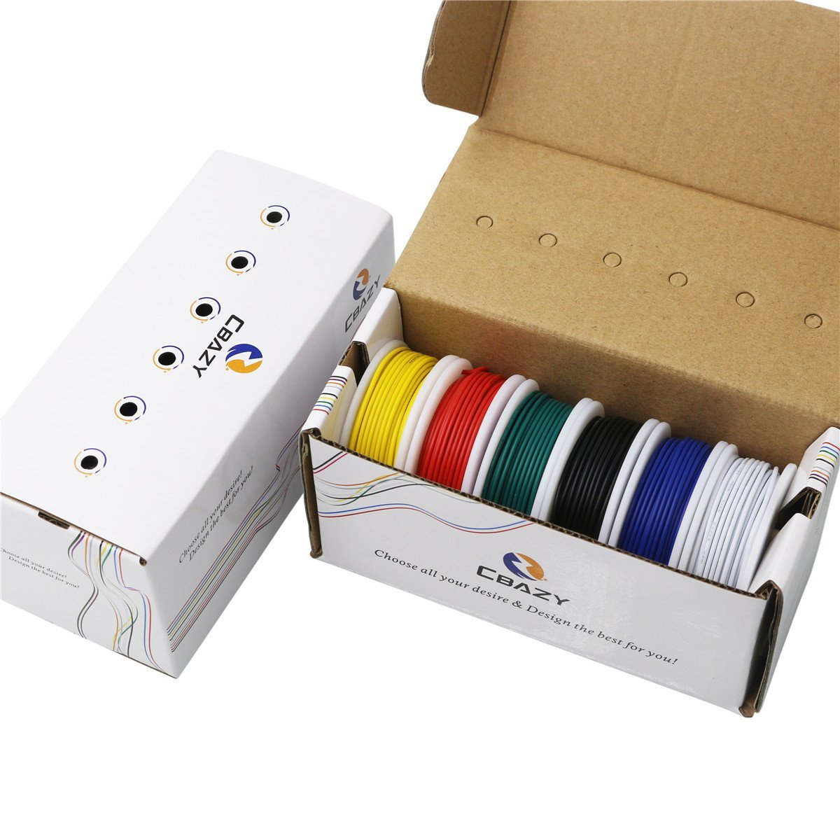 CBAZ Schaltdraht Kit (Litze Kit) 22 Gauge 6 farben 26,2 feet Jede ...