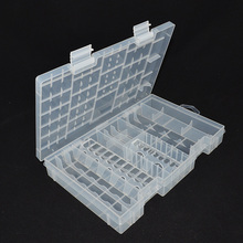 Plastic Transparent Battery Storage Case Box for A AAA C D 9V Battery Holder Case Container Large Size Battery Organizer(China)