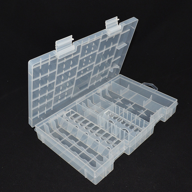 Plastic Transparent Battery Storage Case Box For A AAA C D 9V Battery  Holder Case Container Large