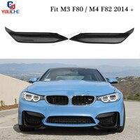 M3 M4 Carbon Fiber Splitter Front Bumper Spoiler for BMW M3 F80 M4 F82 F83 Sedan Coupe 2014 +