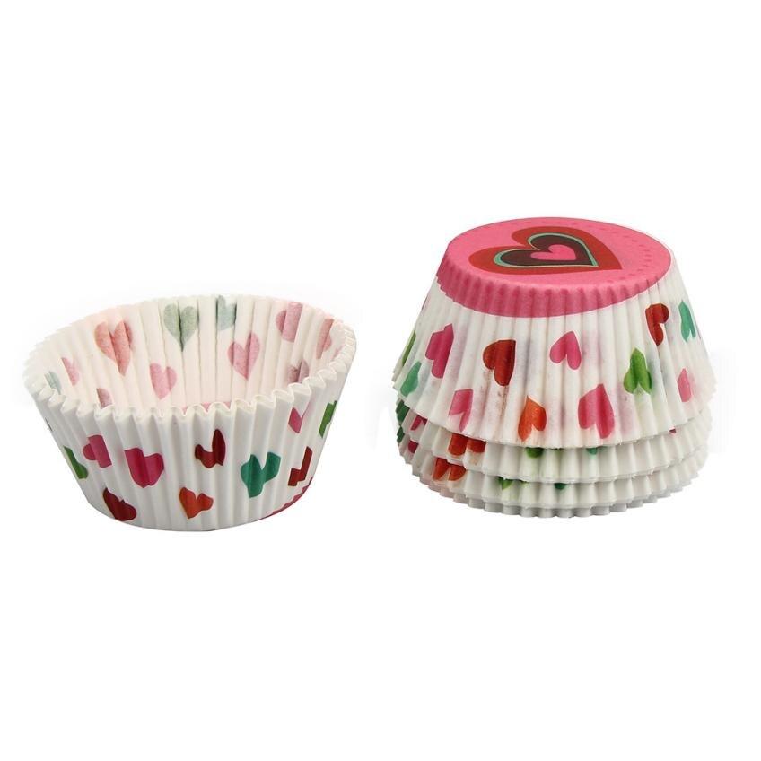 Accesorios de cocina pastel de papel de decoración de pasteles de la magdalena d