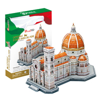 Cubicfun 3D puzzle paper model jigsaw cattedrale Basilica di Santa Maria del Fiore assemble Italy building hand work present 1pc