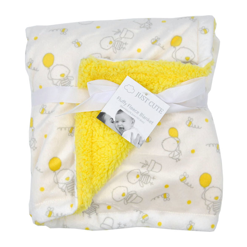 Cute Cartoon Newborn Baby Blanket Coral Fleece Baby Swaddle Super Soft Baby Wrap for Infant Baby Bedding Blanket Size 102cm76cm (5)