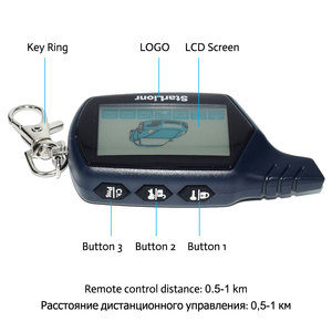 Image 3 - Russian Version Two Way Car Alarm System B9 Remote Engine Start with LCD Fob Keychain 2 Way Auto Security Anti Theft Device B9