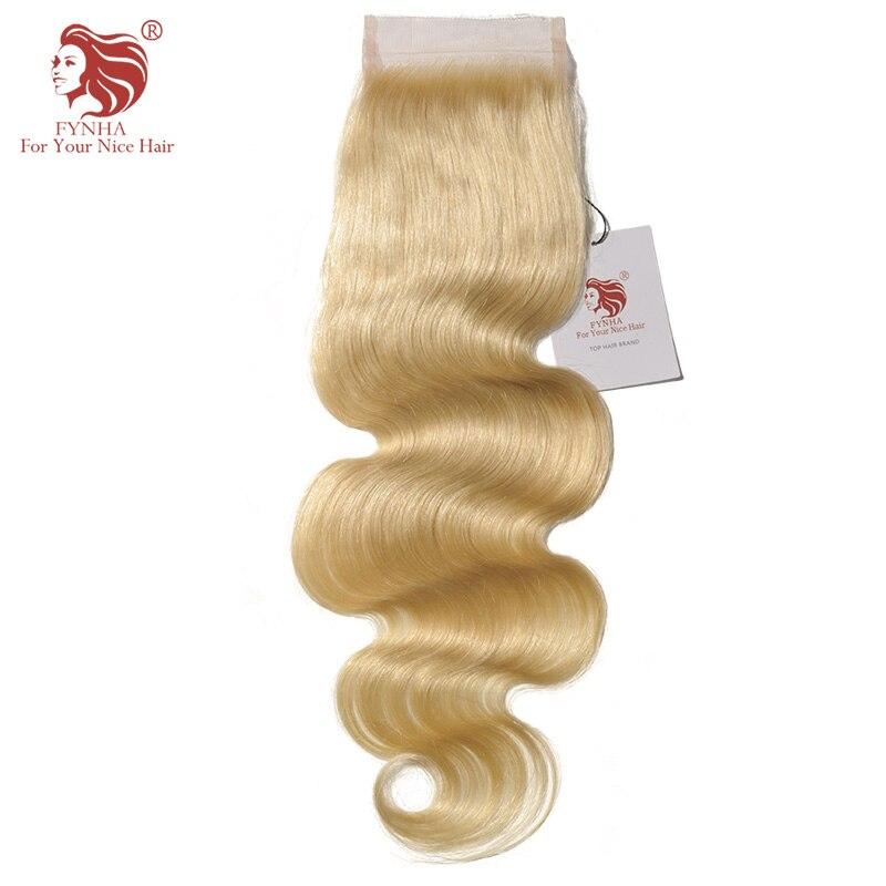 [FYNHA] 613 # светлые волосы закрытия шнурка бразильских Волосы remy тела волна человеческих волос для вашего красивые волосы