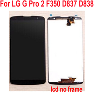 Best Working LCD Display Touch Screen Digitizer Assembly + Frame For LG Optimus G Pro 2 F350 D837 D838 5.9 Phone Sensor Parts