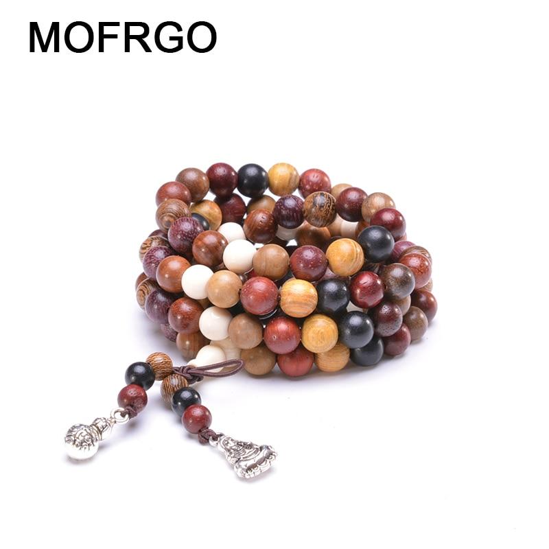 Купить 108 различные браслеты из сандалового дерева с искусственными