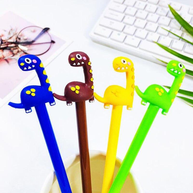 1pc Kawaii Long Neck Dinosaur Gel Pen Cartoon Student Creative Stationery Black Ink Pen Office School Supplies Cute Dinosaur Pen in Gel Pens from Office School Supplies