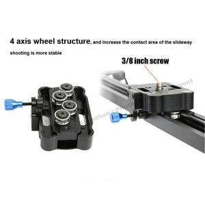 Image 4 - 60 cm/80 cm/100 cm Kamera Kaymak Profesyonel Video Parça Rulman Slider Dolly Sabitleyici raylı sistem DSLR için kamera Kamera