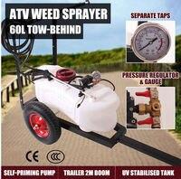 ATV опрыскиватель комплект 60L бак насос 12 В в 5 М шланг ручной копье автомобиля давление датчик