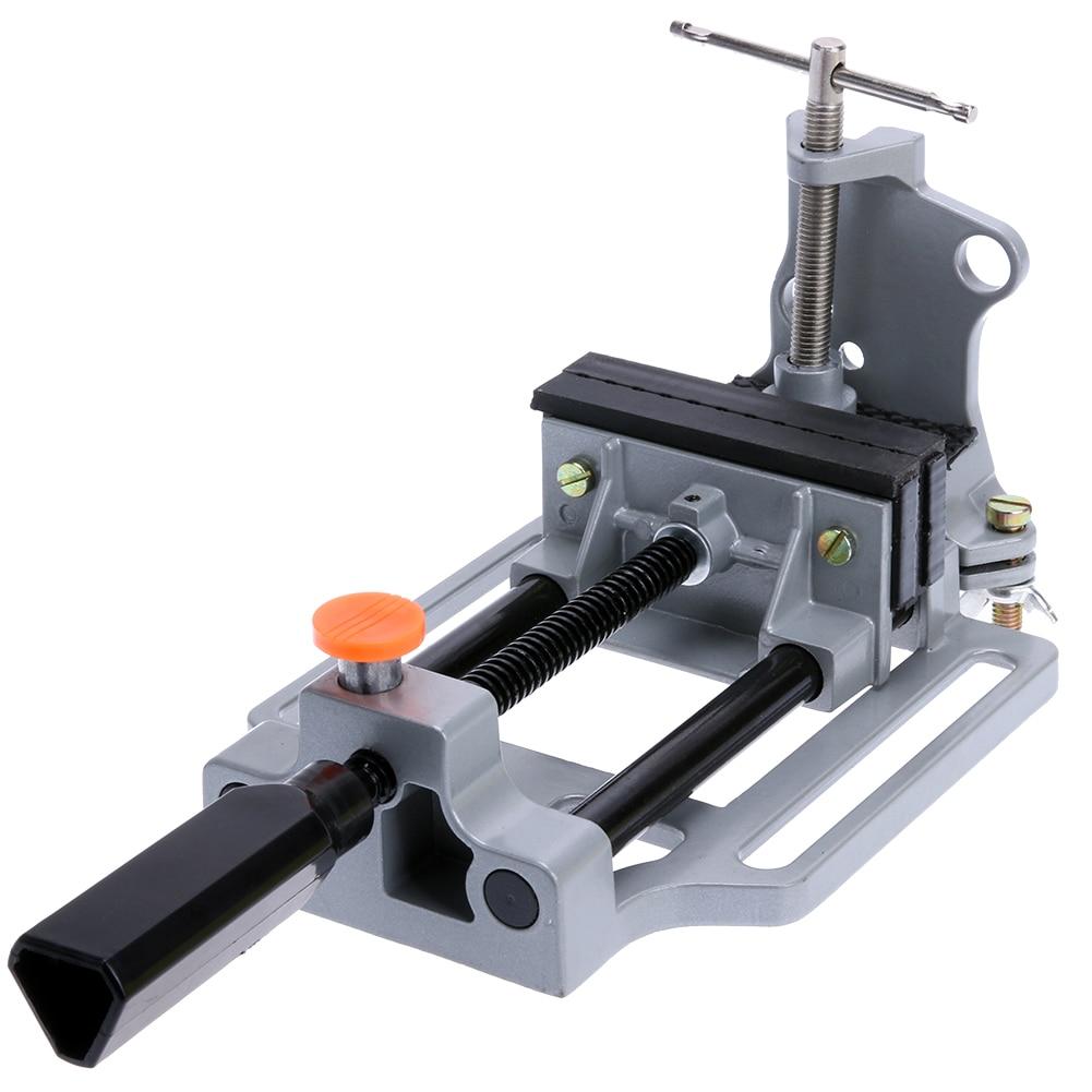 Универсальный алюминиевый сплав стол плоская скамья тиски сверлильный пресс тиски маленькие тиски для деревообработки DIY инструмент фрезе...