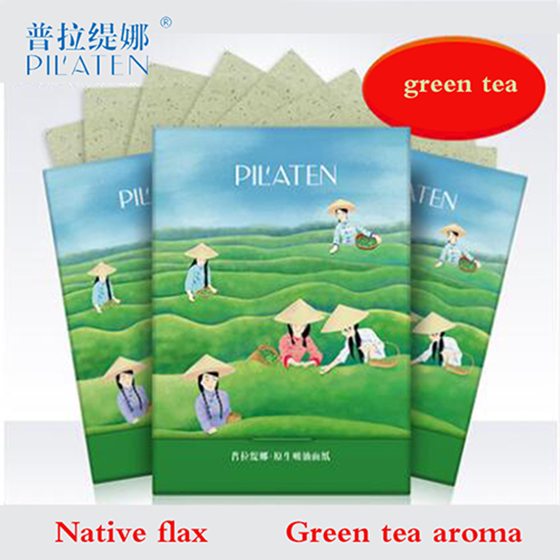 Pilaten Bioaqua Facial Absorb Paper Green Tea Fragrance Woman Facial Natural Facial Mask Beauty Tools 100 sheets/box matcha