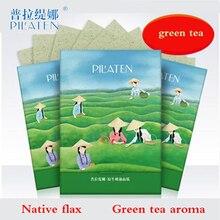 Pilaten Bioaqua Facial Absorbție Hârtie Verde Ceai Parfum Fata Facial Mască Facială Naturală Instrumente de frumusețe 100 coli / cutie matcha