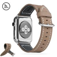 Hoco Genuine Leather Loop Strap Fashion Classic Embossed Band For Apple Watch 42mm 38mm Watchband Adapter