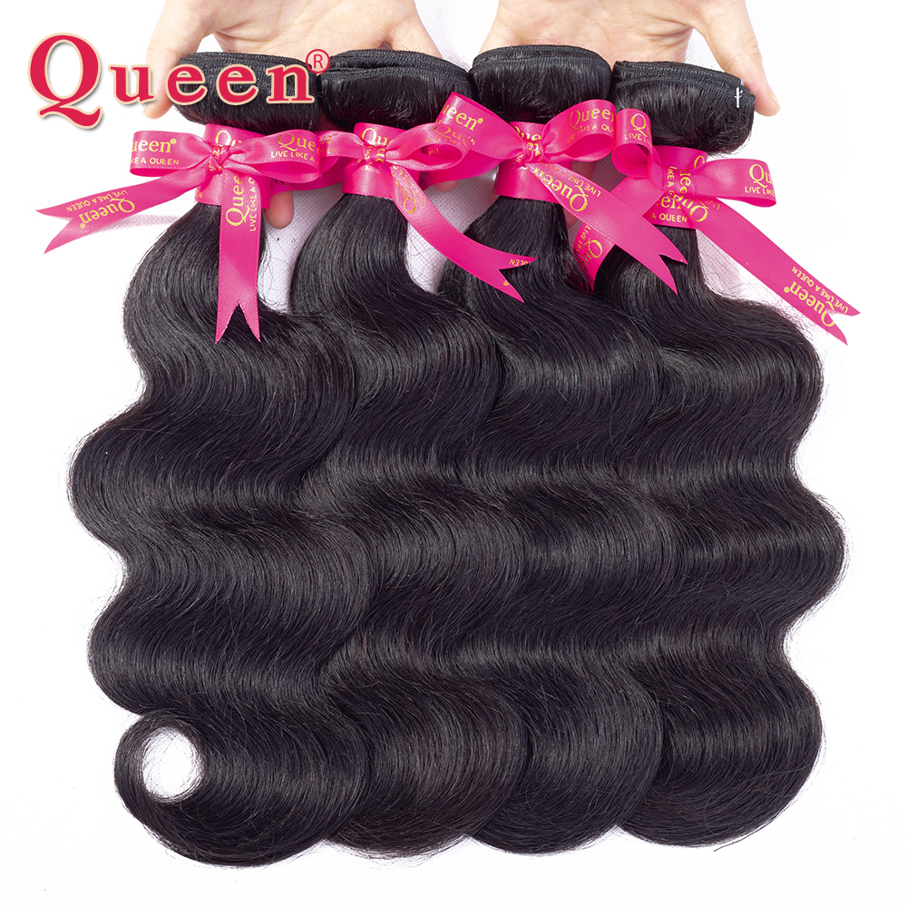 Koningin haarproducten braziliaanse haarweefsel lichaam wave bundels - Mensenhaar (voor zwart) - Foto 2