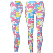 New Colorful Unicorn Cartoon Leggings Women FunnyGym Printed Leggins Slim Sexy Fitess Streetwear Pants High Waist