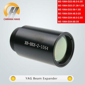 Fibra YAG Carmanhaas 1064nm 0.5X 1.2X 1.5X 2X 2.5X 3X expansor de haz para corte de marcado láser M22 * 0,75