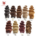 Free shipping 100g/pac body wave micro ring loop hair extensions grade 6A 100% remy human hair 18''-24'' 100s can be customized