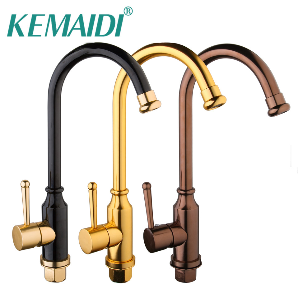 KEMAIDI 3 Choices Hand Painting Kitchen Sink Mixer  Rose Gold Polished Space Aluminium Metal Black  Tap Bathroom Faucets iarts aha072962 hand painted thick texture of knife painting trees oil painting red 60 x 40cm