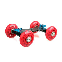 Envío libre + siguiendo número videocámaras cámara Mini coche rojo Skater resbalador de la pista de Super para 5D Mark ii 7D o 60D