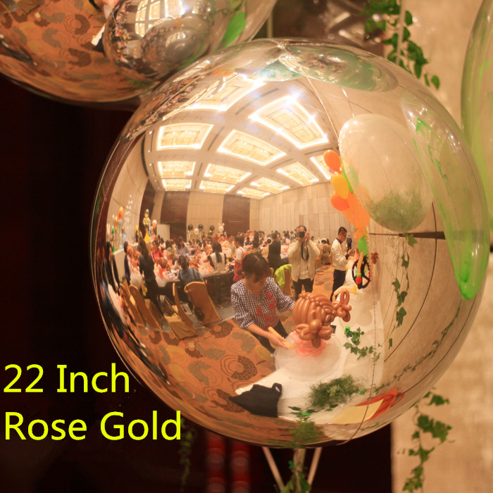 22 inch 1pcslot Rose Gold 4D Cube Balloon Mylar Ballons Marriage Decorations Party Supplies Favor Helium Ballon Toys Champagne