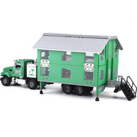 Metal RV Model 2 Floor House 26Cm Body Deformation Car Good Quality Touring Car DIY Toys For Kids Recreation Vehicles