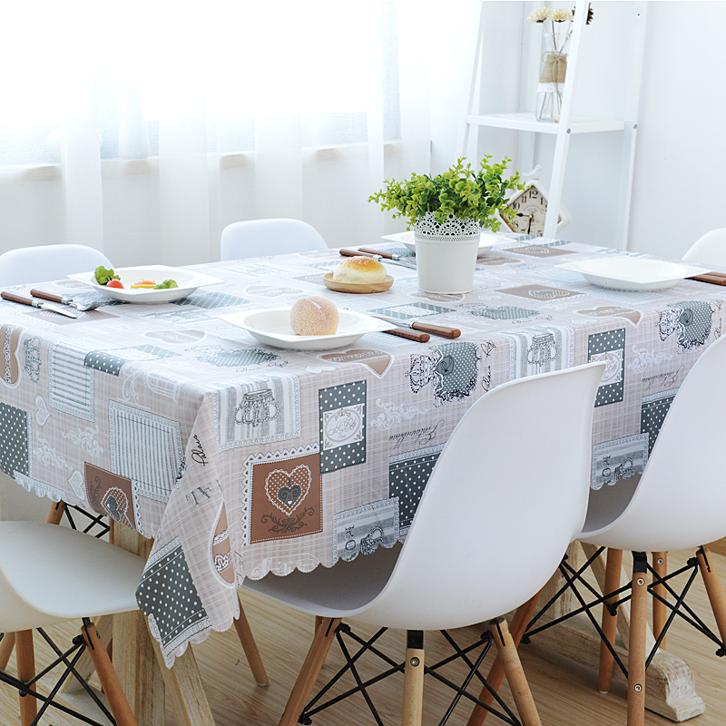 Garden Table Cloth Waterproof and Oil Proof Hot Disposable Tablecloth PVC Plastic Tablecloth Restaurant Rectangular Table Cover