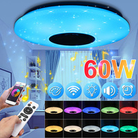 Smuxi 60W 102LED bluetooth LED Music Ceiling Lights Starry APP/Remote Control Dimming RGB bluetooth LED Lamp AC180 240V Fixtures