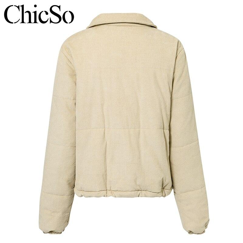 MissyChilli Casual down parka jacket women winter coat Female khaki streetwear short coat Snow wear warm corduroy outerwear new 5