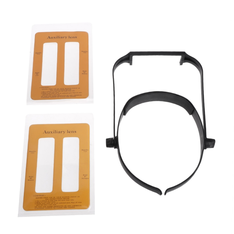 OOTDTY 1.6x 2.0x 2.5x 3.5x Head Headband Replaceable Lens Loupe Magnifier Magnify Glass