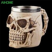 Alien Skeleton Harz Trinken Becher Tasse Schädel Krug Horror Dekorative Halloween Drink 1 Stück