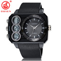 Ohsen marca men sports watch militar do exército led digital quartz relógio de pulso à prova d' água cinto de plástico relogio masculino as05