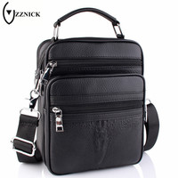 ZZNICK 2017 Genuine Leather Men Bag Small Shoulder Crossbody Bags Men Messenger Bags Men S Leather