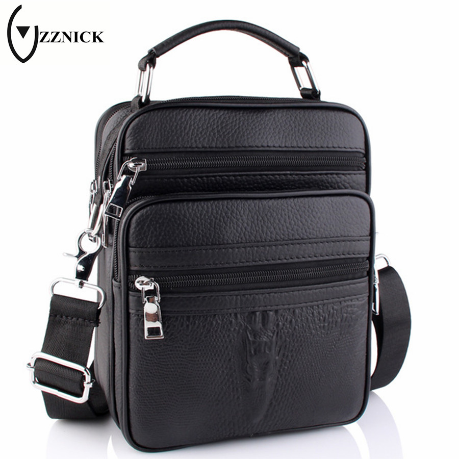 ZZNICK 2018 Genuine Leather Men Bag Small Shoulder Crossbody Bags Men Messenger Bags Men's Leather Bag Casual Handbags Hot Sale zznick 2017 genuine leather bag men crossbody bags fashion men s messenger leather shoulder bags handbags small travel male bag