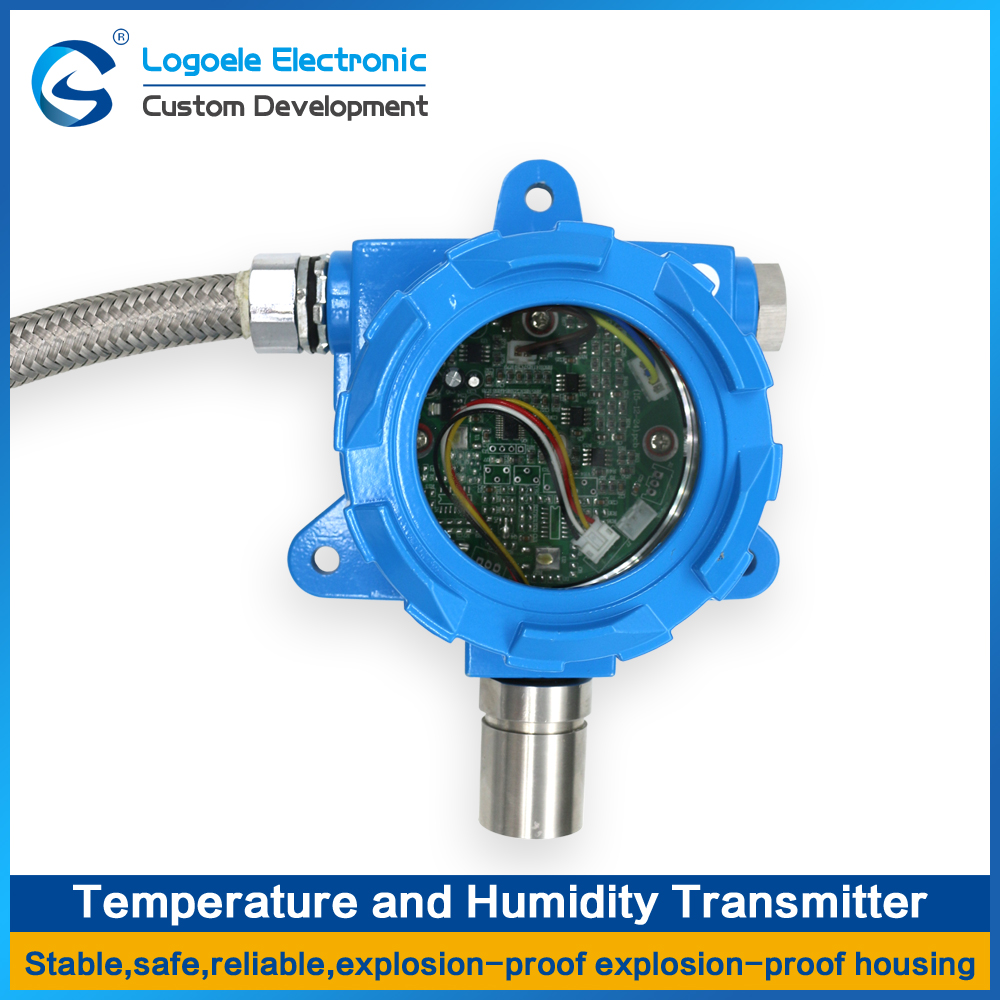 High quality Temperature and humidity transmitter detection sensor module, Shell of lame and explosion proof 1pcs temperature and humidity voc tvoc co2 formaldehyde 5in1 detection sensor