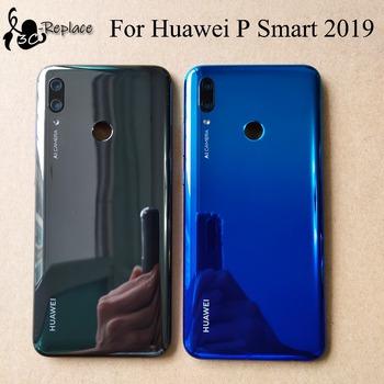 Oryginalny dla Huawei P Smart 2019 POT-LX3 POT-L23 POT-LX1 POT-L21 POT-LX2 powrót pokrywa baterii obudowa obudowa case tylne części szklane tanie i dobre opinie POT-LX3 POT-L23 POT-LX1 POT-L21 POT-LX1AF POT-LX1RUA POT-LX2J Plastikowe Perthde Battery cover Black 6 2 inch 100 test