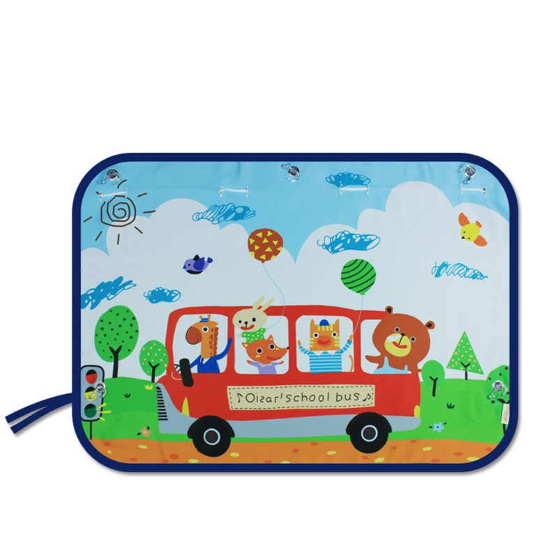 70*50 см Автомобильная мультяшная занавеска, Солнцезащитная блокирующая шторка, боковая блокировка, Растяжимая Солнцезащитная шторка для детей, автостайлинг - Цвет: A8