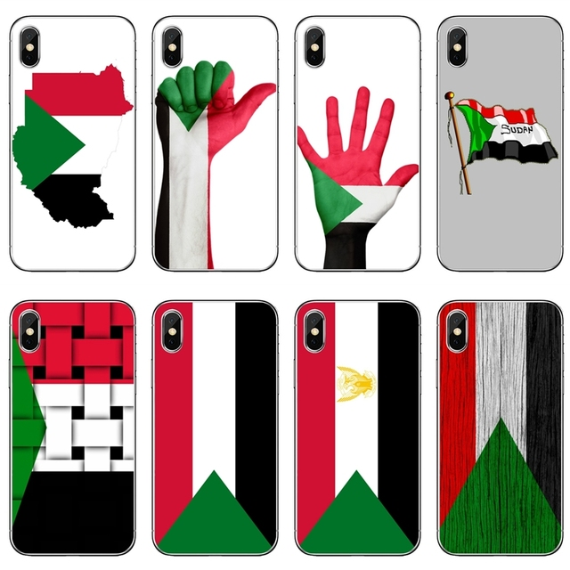 promo code 4cabd 1057e US $1.99 |Sudan National flag slim TPU Soft Accessories phone cover case  For Apple iPhone X XR XS Max 8 7 6s 6 plus SE 5s 5c 5 4s 4-in Half-wrapped  ...
