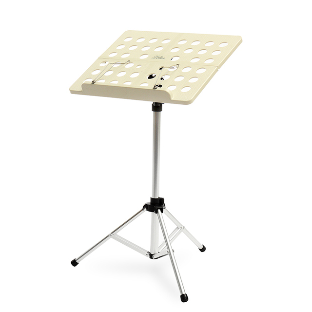 Zebra Universal Portable Sheet Music Stand Holder Folding Lightweight Musical Desk Adjustable Paper Rack with Carrying Bag