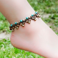 women anklet 2016 new accessories DIY weave wood hot sell copper alloy foot rope jewelry wholesale anklets bracelet gift BT06