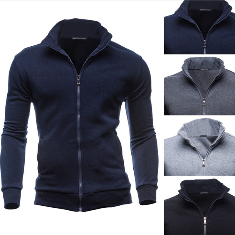 Plus Size 3XL Autumn Winter Fleece Hoodies Men Sweatshirts Zipper Fitness Hoody Jackets And Coats For Men Cardigans
