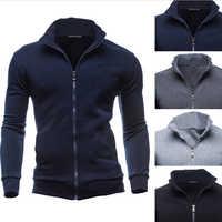 Plus Size 3XL Autumn Winter Fleece Hoodies Men Sweatshirts Zipper Fitness Hoody Jackets And Coats For Men Cardigans
