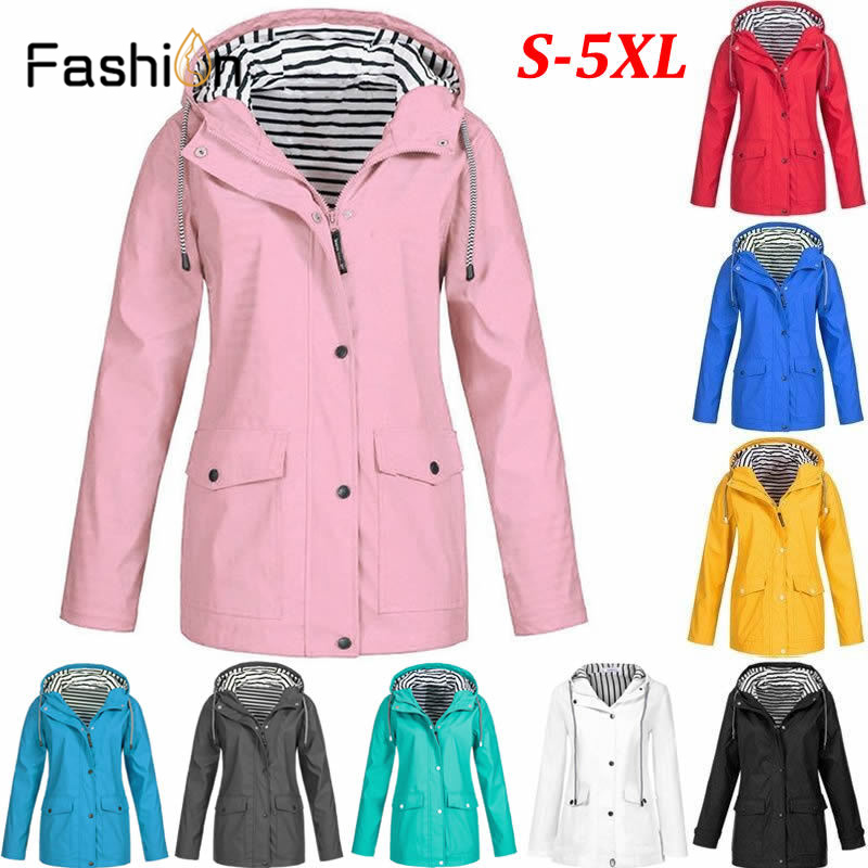 detailing select for authentic official price US $17.26 43% OFF 5XL Clothing Women Casual Jacket Outdoor Waterproof Coat  Hooded Raincoat Windproof Strict Warm Coats Mountain Climbing Jackets-in ...