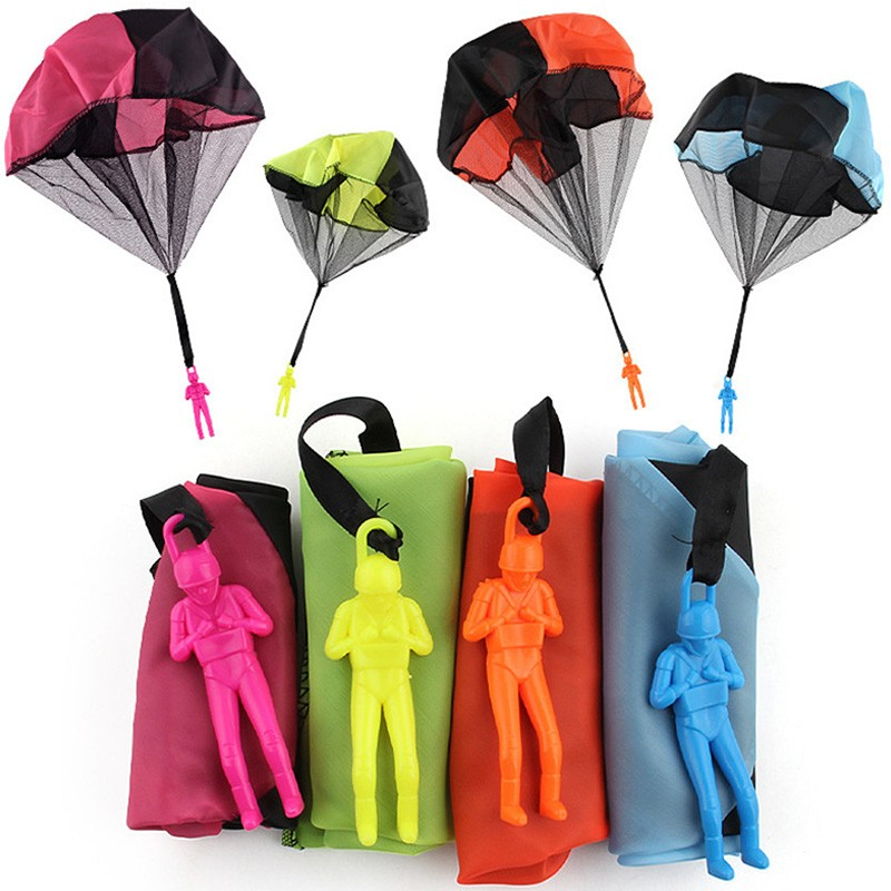 Hand Throwing Kids Mini Play Parachute Toy Soldier Outdoor Sports Children\'s Educational Toys Free Shipping