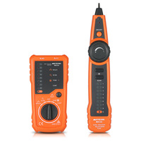 RJ11 RJ45 Cable Tester Handheld Line Finder Wire Tracker Cable Check Wire Measuring Instrument for Network Maintenance Collation